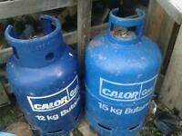 Empty calor gas bottles 12 or 15kg caravan camping patio