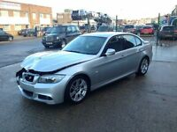 2009 BMW 318D M SPORT E90 LCI SALOON AUTOMATIC SILVER DAMAGED SALVAGE REPAIRABLE