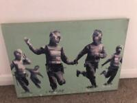 **Great Condition** Banksy Large Canvas RRP £30