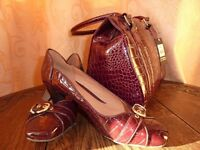 Large selection of Ladies Handbags and Shoes size 4 and 4.5 boxed some new