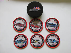 touring car collection coasters