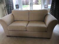 2 Next cream sofas (3 seater & 2 seater)