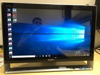 """Sony Vaio 24"""" Touchscreen All in One PC windows 10"""