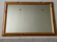 Large pine framed mirror 103cm x 72.5cm