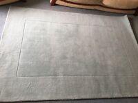 Duck Egg 100% Wool Rug 160 X 230cm