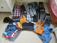 Large bundle of clothes for boy, age 6 years - more items have been added since pictures taken!