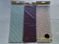 NEW 3 CRAFT CREATIONS / CARD MAKING PAPER PACKS