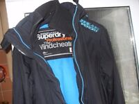 SUPERDRY HOODED WINDCHEATER AS NEW SIZE MEDIUM COST £145