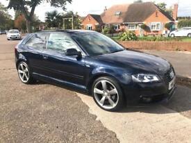2012 12 Audi A3 2.0 TDI S LINE * BLACK EDITION * Start/Stop Turbo Diesel £30 Road Tax