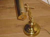 Vintage Brass Adjustable READING/Desk lamp