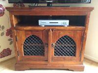 Jali Indian wood TV unit.