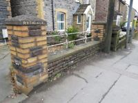 Victorian reclaimed wall coping stones