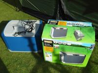 Camping Fridge / Coolbox Cooler Halfords 40 litre 12v / 230v Electric Ex display & perfect condition