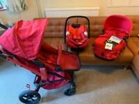 Concord Travel System 3 in 1, car seat & cot brand new!