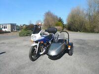 Yamaha XJ900F with Squire sidecar