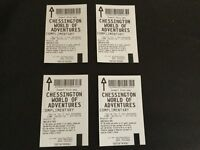 FOUR CHESSINGTON WORLD OF ADVENTURES TICKETS - USE ANY DAY INCL SCHOOL HOLIDAYS