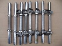 4 pairs chromed solid steel dumbbell handles