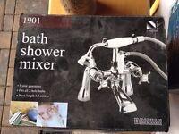 BRISTAN 1901 - Bath Shower - Fits all 2-hole baths - 1.5 hose