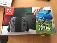 Nintendo Switch console and the Legend of Zelda