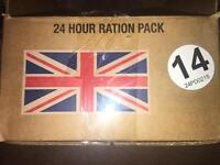 24hr British Army ration pack menus A and B.