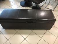 Leather ottomans for sale 1 ex display 1 damaged return