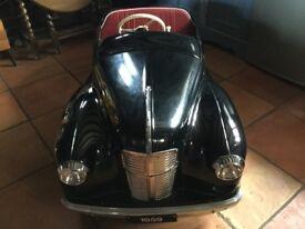 AUSTIN J40 CLASSIC ORIGINAL PEDDLE CAR AS FEATURED IN RAC TV ADD