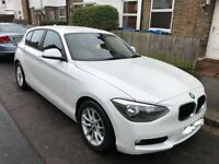 BMW 1 Series 63 plate - Pearl White