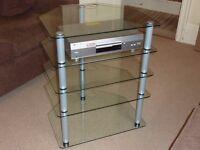 5 Shelf Glass Hifi Stand