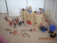 Toy castle, ship and dragon