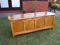 Wooden Chest, Storage Box or Trunk, Solid wooden panelled chest