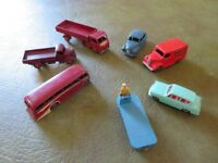 Seven used Dinky Toys by Meccano Ltd.
