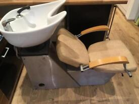 Hairdressers wash basin