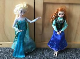 FROZEN Elsa and Anna dolls (Barbie size)