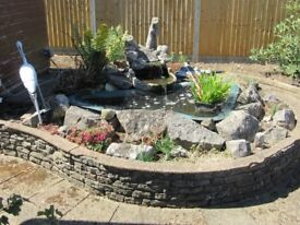 Complete Garden Pond and accessories