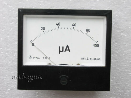 Microampere meter 100uA