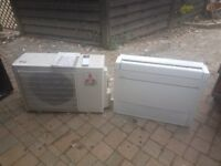 Mitsubishi Floor Type Air Con Unit & Condenser