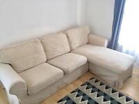IKEA EKTORP two seater chaise lounge/ corner sofa