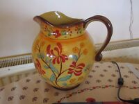 HANDPAINTED LARGE JUG BY GOLDEN FION- SHABBY CHIC