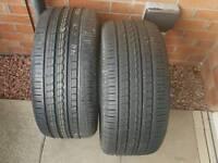 2 New Pirelli P- Zero Tyres 255 x 35 x 19 Y Audi Mercedes Etc
