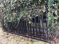 3 metal fence fragments in black finish - £139 each