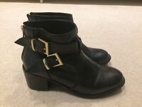 Head Over Heels Black Ankle Boot by Dune Size 4