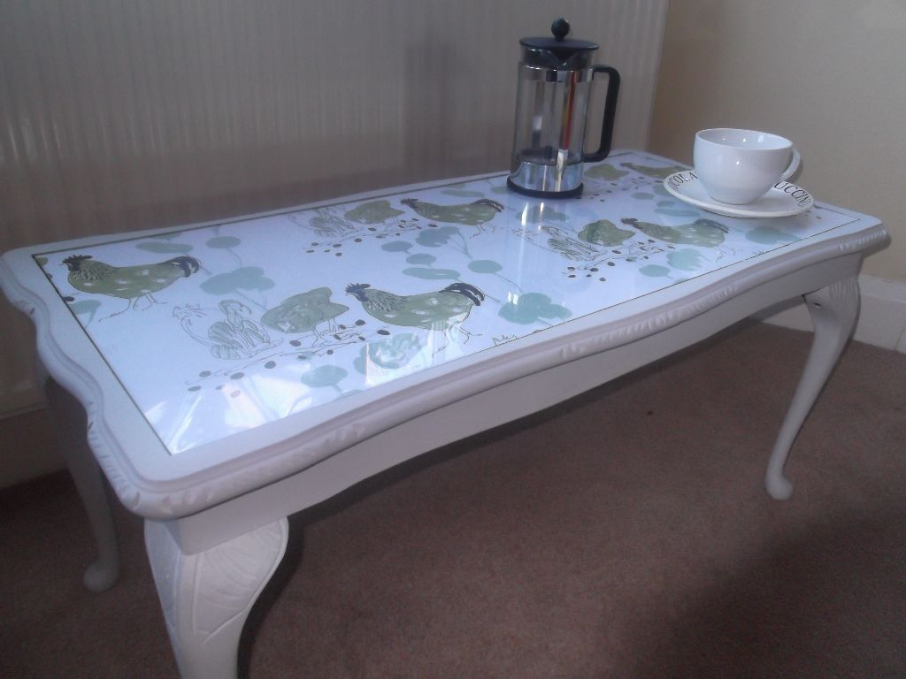 Funky And Very Unusual Decoupage Coffee Table For Home Cafe Or Business A Stand