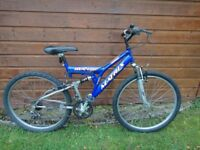 Matrix reverb full suspension, 26 inch wheels, 18 gears, 18 inch frame