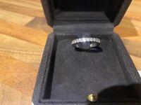 Prestons Platinum 0.25ct diamond wedding band