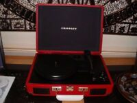 Crosley Retro Vinyl Record player in Red