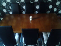 Dining table and 8 chairs set