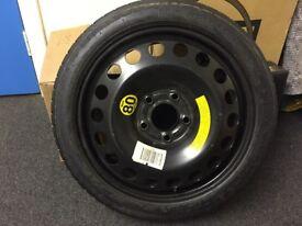 Unused Spacesaver Wheel & Tyre