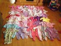 161 pieces $50 NB-3 months baby girl