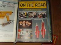 98 volumes of On The Road in Binders