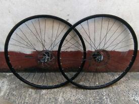 700c Quando Disc wheelset front+rear
